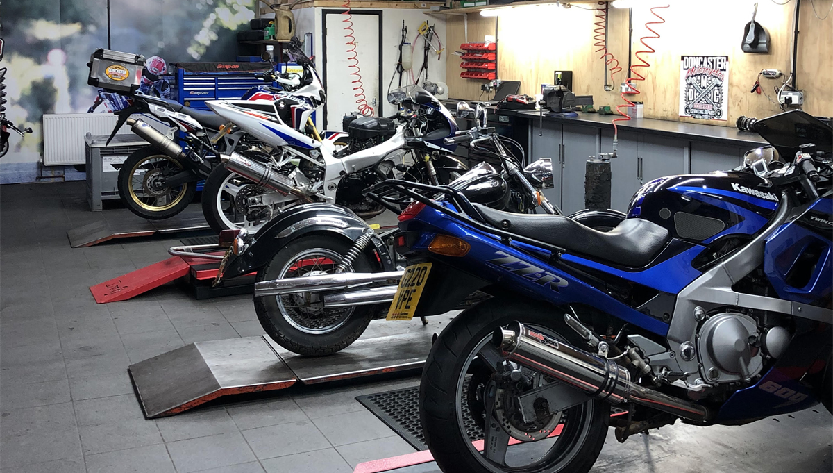 Doncaster Motorcycles workshop - Servicing, MOT Testing, Tyres & Repairs